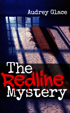 The Redline Mystery cover art: red shadow of woman at reflected window